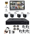 KIT CAMARAS DE SEGURIDAD - DVR CON 4 CAMARAS FULL HD1080 + DISCO 1TB
