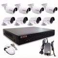 KIT CÁMARAS DE SEGURIDAD - DVR CON 8 CÁMARAS FULL HD1080 + DISCO 1TB